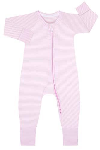 Dim 0A0I Pijama Largo para bebés y niños pequeños, Rayé Rose Layette/Blanc, 6 Meses