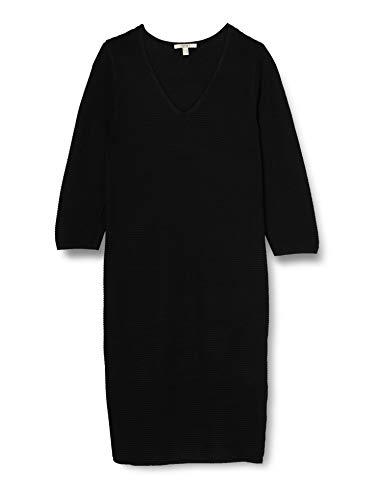 ESPRIT Damen 100EE1E333 Kleid, 001/BLACK, 48