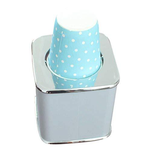 DASNTERED Dispensador automático de vasos de papel con 20 vasos de papel, para el baño de mesa, para el hotel de 3 onzas