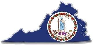 Crown Awards Virginia State Flag Pins - Shape of VA Lapel Pins Prime