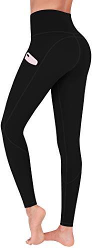 FUNANI High Waist Yoga Pants, Yoga Pants with Pockets for Women Tummy Control 4 Ways Stretch Leggings Black Medium