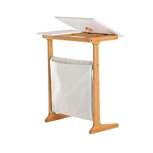 QINGZHUO Mesa Auxiliar Simple Mesa de café Tipo C,Mesa de bocadillos Junto a la Cama (el Modelo de actualización es un Escritorio de computadora)