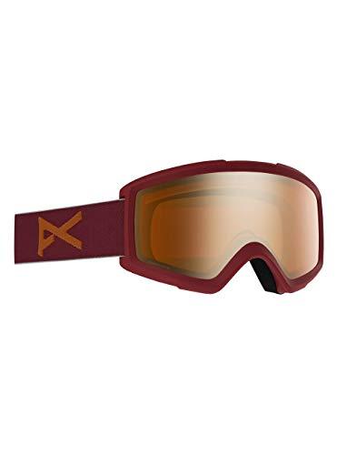 Anon Herren Helix 2 Sonar with Spare Snowboard Brille, Maroon/Sonarbronze