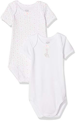 Chicco Set 2 Body Americano Manica Corta in Caldo Cotone Débardeur, Rose (Bianco e Rosa 031), 86 (Taille Fabricant: 086) (Lot de 2) Bébé Fille
