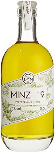 Minz °9 | erstaunlich anders | Pfefferminzlikör | 24% vol | LSM Leipziger Spirituosen Manufaktur (1 x 0.5 l)