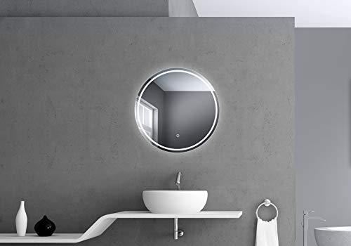 Talos Moonshine Badspiegel mit Beleuchtung, Weiß, 60 cm