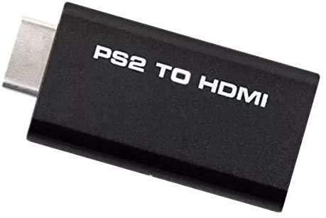 Yizhet PS2 a HDMI Convertitore Adattatore audio video Sony Playstation 2 a HDMI, con Uscita Audio da 3,5 mm,per HDTV o monitor HDMI compatibile,per tutti i modi PS2