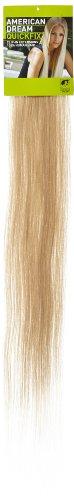 American Dream - A1/QFC12/24/24 - 100 % Cheveux Naturels - Barrette Unique Extensions à Clipper - Couleur 24 - Blond Soleil - 61 cm