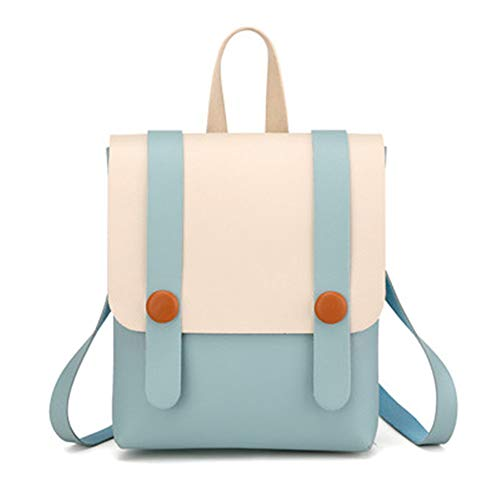 TnXan getäfelten Patchwork bolso Mochila Mujer Mini-Rucksack Casual Daypacks PU-Leder-Rucksäcke...