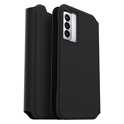 OtterBox Strada Via Series Case for Samsung Galaxy S21 Ultra 5G, Sleek, Soft Touch Protective Folio - Black