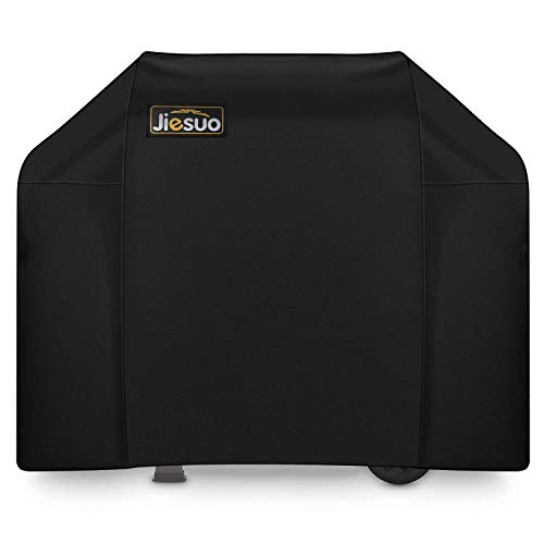 JIESUO BBQ Gas Grill Cover for Weber Spirit and Spirit II 310: Heavy Duty Waterproof 51 Inch 3 Burner Weather Resistant Ripstop Outdoor Barbeque Grill Covers Covers Grill