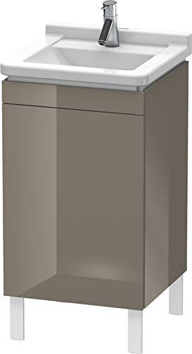 Duravit l-cube wastafelonderkast links 710 x 440 grijs glanzend