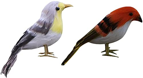 2 peças artificiais de natal, pássaros, pardal, árvore, enfeites, artesanato, ornamentos