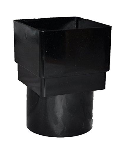 Quadratischer auf runder Fallrohradapter, Schwarz, 5 Stück