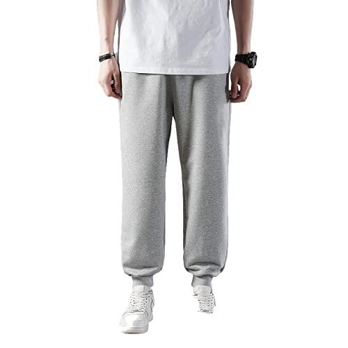 Pantalones Deportivos Casuales para Hombres Primavera y otoño Correr al Aire Libre Color sólido Pantalones cómodos para jóvenes de Todo fósforo 4XL