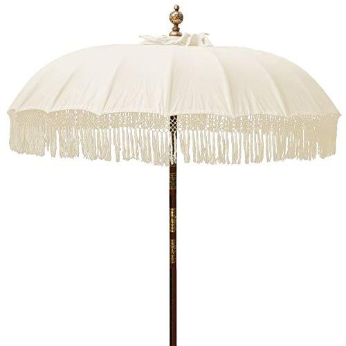 Unbekannter Balines-Sonnenschirm mit elegantem Design, 2 x 2,5 m, Weiß