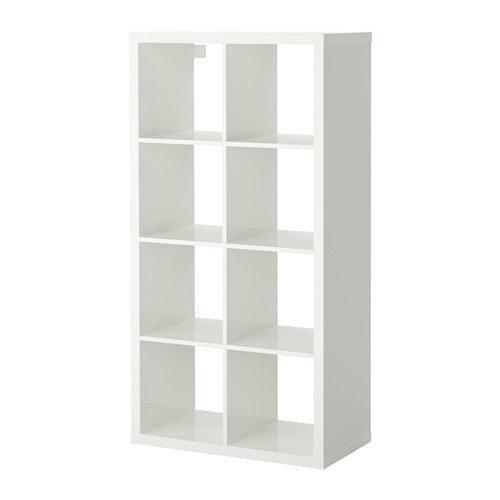Ikea KALLAX–Regal–Hochglanz Weiß