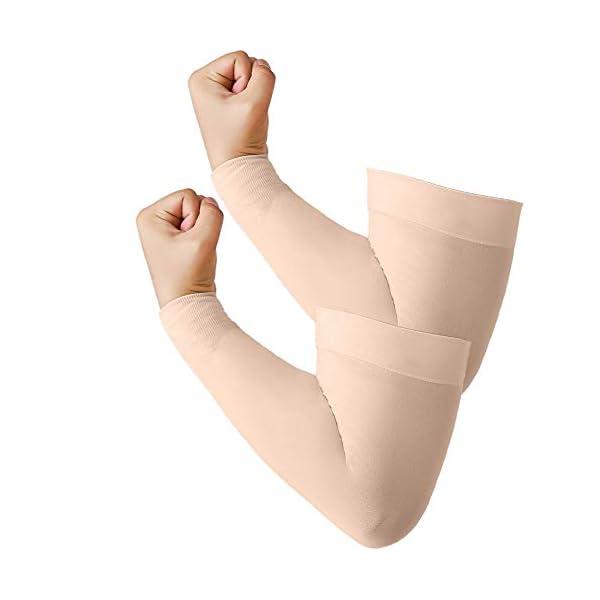 Arm Sleeves 2 Pairs Plus Size for Men Women, Big Size XL, XXL, XXXL, UPF 50 Sun Protection...
