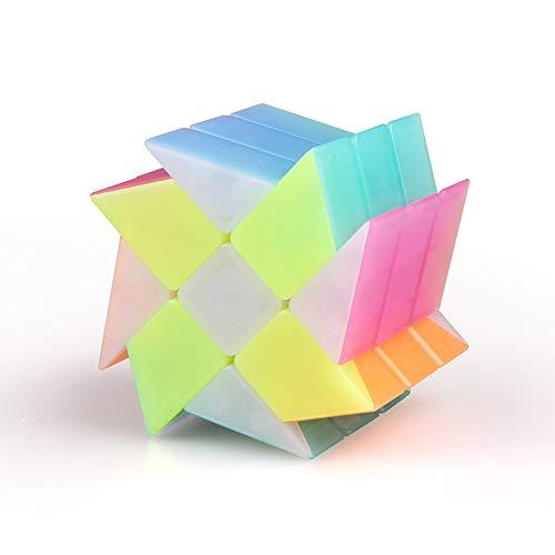 LinGo Cubo Mágico Fenghuolun Especial Puzzle Cube ABS Ecológico Speed Cube El Mejor Cubo Mágico del Rompecabezas 3D con Colores Vivos Rompecabezas Puzzle Toy para Adultos Niños