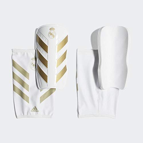 adidas Jungen X PRO RM Schienbeinschoner für Fußball, White/Matte Gold, L