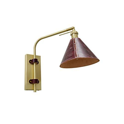 Szlight Einfache Wohnzimmer Dekoration Aus Pflanzlich Gegerbtem Leder Wandleuchte Kann Schlafzimmer Nachttischlampe Hauseingangsbeleuchtung Gedreht Werden