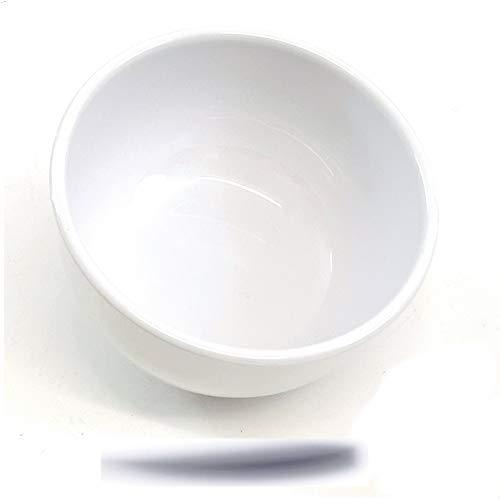 Kerafactum Lot de 2 bols à céréales, bols à soupe blancs   bols ronds petits bols à céréales, bols à céréales, bols blancs   bols de service en mélamine 440 ml