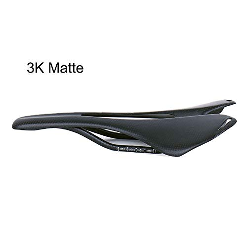 QIKU Sella per Bicicletta in Fibra di Carbonio 3K Nero Ultra Leggero (3Kmatte)