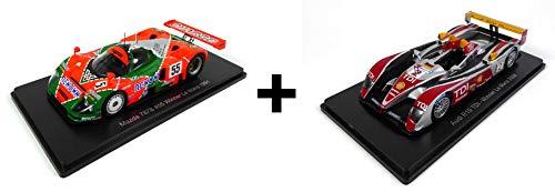 OPO 10 - Lotto di 2 Auto Le Mans Spark 1/43 per Hachette Japon: Mazda 787B 1991 + Audi R10 2008 (02 + 06)