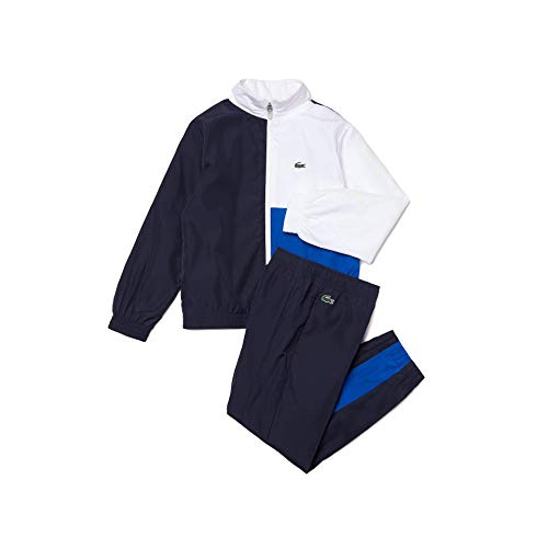 Lacoste Jungen WJ0834 Trainingsanzug, Marine/Blanc-Lazuli, 16 Years