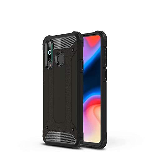 DOHUI Funda Huawei P Smart 2020, PC+TPU Armadura Híbrida Doble Capa Protectora Carcasa [Antideslizante] [Anti-Golpes] Cover Caso para Huawei P Smart 2020 (Negro)