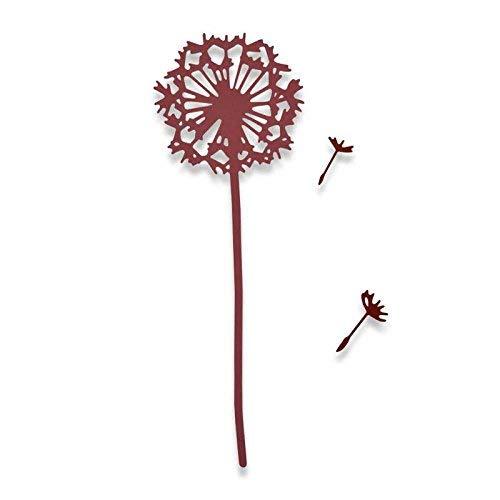 Sizzix Wünsch Dir etwas von Sophie Guilar Thinlits Stanzen Set, 3 in Packung, Stahl, Funky Floral, 23.5 x 8.1 x 0.2 cm