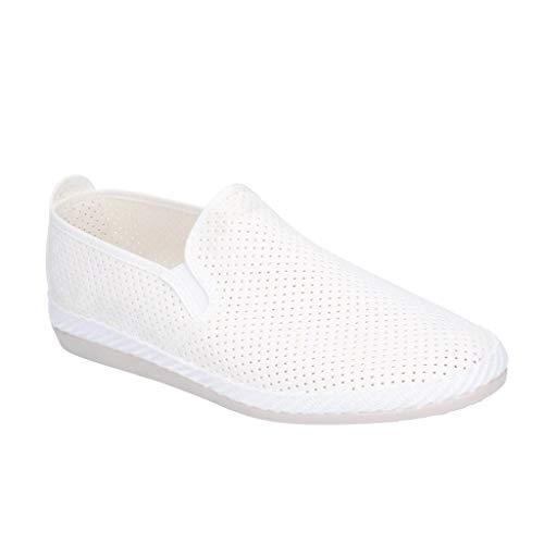 Flossy - Zapato básico Vendarval para Hombre Caballero (44 EU) (Blanco)