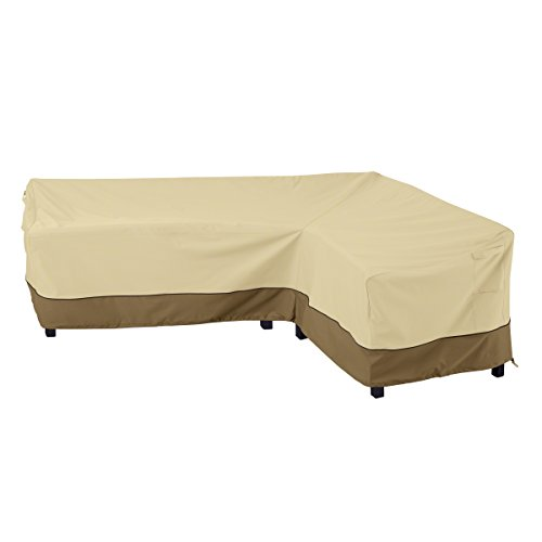 Classic Accessories 55-880-011501-RT Veranda Water-Resistant 104 Inch Patio Right-Facing Sectional Lounge Set Cover