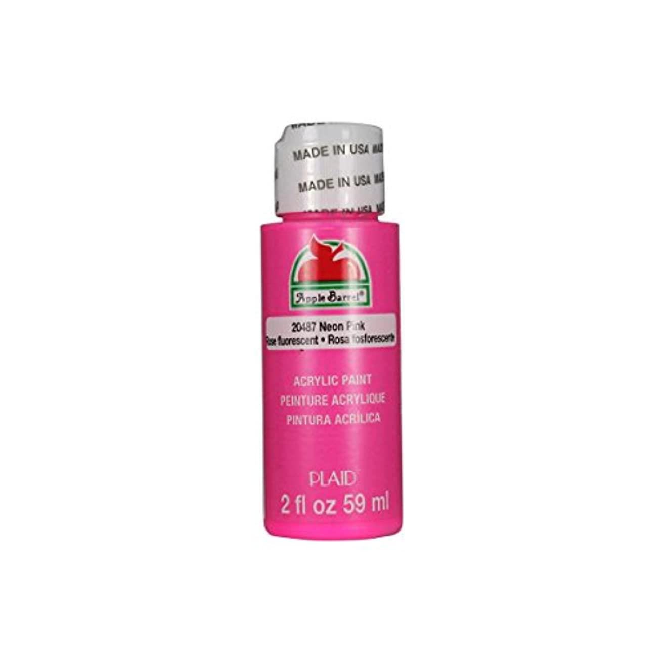 Apple Barrel Acrylic Paint in Assorted Colors (2 oz), 20487, Neon Pink