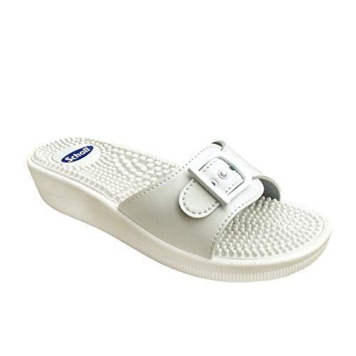 Scholl-Taglia: 42-colore: bianco-Sandali da massaggio