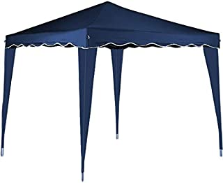 cucunu Pop Up Tent Canopy Instant Gazebo 10 x 10 Shelter with Metal Frame for Outdoor Patio Garden Waterproof 10x10 Blue
