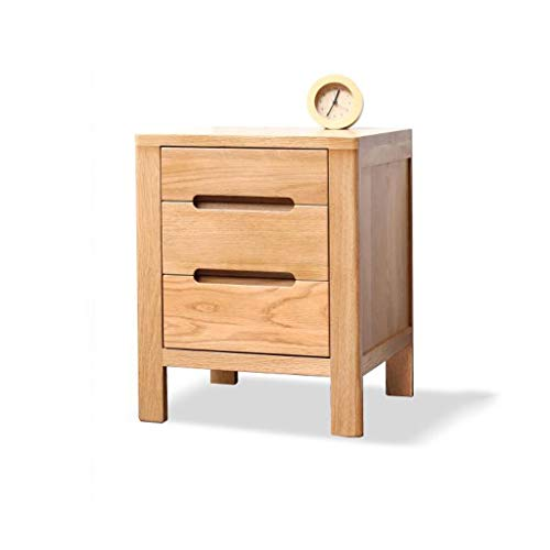 LYN Table d'appoint, 3 Tiroirs Table de Chevet en Bois Table de Chevet Cabinet Chambre Côté Table Console Table Shabby Chic Meubles for Le Salon