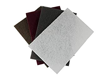 4 Piece Set 3M  TM  Scotch-Brite  TM  Hand Pads 7440 Heavy Duty  Tan  7447 General Purpose  Maroon  7448 Ultra Fine  Grey  and 7445 Light Cleaning  White  6 inch x 9 inch  1
