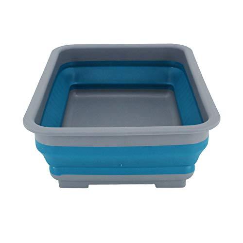 NOBRAND Lavabo plegable de plástico para lavadero/fregadero portátil, lavabo de almacenamiento de agua portátil, ideal para camping, caravanas, actividades al aire libre, cocina y más