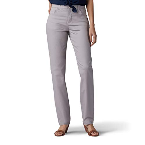 LEE Women's Tall Instantly Slims Classic Relaxed Fit Monroe Straight Leg Jean, Palisade, 16 Tall