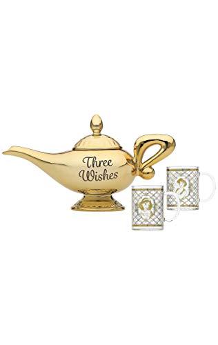 Half Moon Bay TEAPDC01 Tetera 3D Disney Aladdin Lamp, Vidrio