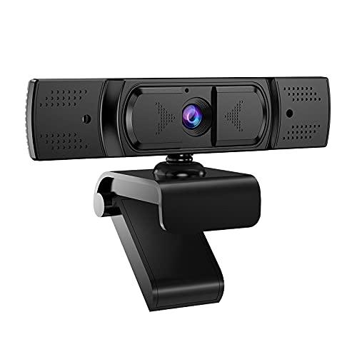 Webcam PC con Microfono, Samzuy Webcam per PC HD 1080P 30PFS Può Essere Fisso per Videochiamate, Studio, Conferenza, Registrazione e Lavoro, Video Camera USB 2.0 per Desktop, Laptop