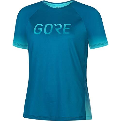 GORE WEAR Camiseta Devotion para mujer, GORE Selected Fabrics, 38, Azul cobalto/Azul turquesa
