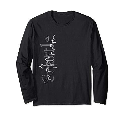 Seattle Skyline Heartbeat Tshirt Greyscale