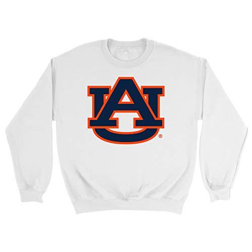 Official NCAA Auburn University Tigers Men's/Women's Boyfriend Sweatshirt - White, Large