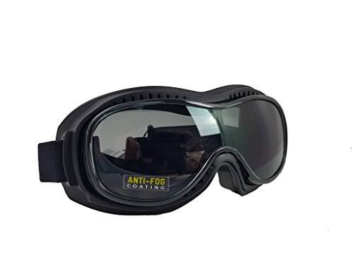 Pi-Wear Toronto dunkel getönte, Winddichte Sonnenbrille für Brillenträger mit Polster