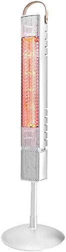 Electrico Calefactor Infrarrojo Para Exteriores Interior, 800W De Pie Calentador De Patio Impermeable Estufa De Terraza Para Jardín Cuarto De Baño Garaje Calefactor-70x21x21cm