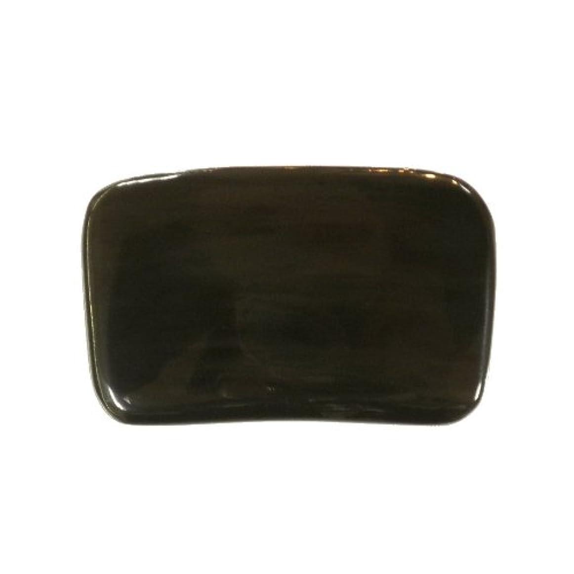 に付ける広いさまようかっさ プレート 厚さが選べる ヤクの角(水牛の角) EHE267SP 長方形小 特級品 特厚(8ミリ程度[100円加算])