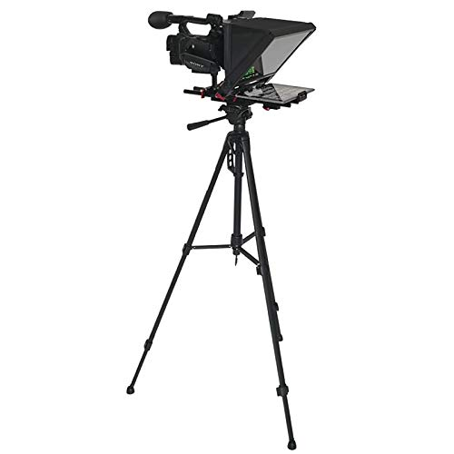 AXH Portable Teleprompter Artifact with Remote Control for DSLR Camera Tablet Pad Smartphone Computer Live Show Record