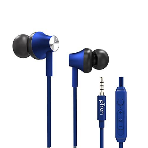 PTron Pride Evo Wired In-Ear Earphone With Mic (Blue)